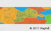 Satellite Panoramic Map of Giwa, political outside