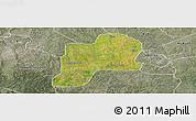 Satellite Panoramic Map of Giwa, semi-desaturated