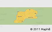 Savanna Style Panoramic Map of Giwa, single color outside