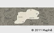 Shaded Relief Panoramic Map of Giwa, darken
