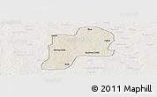 Shaded Relief Panoramic Map of Giwa, lighten