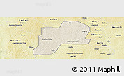 Shaded Relief Panoramic Map of Giwa, physical outside