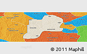 Shaded Relief Panoramic Map of Giwa, political outside