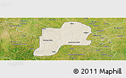 Shaded Relief Panoramic Map of Giwa, satellite outside
