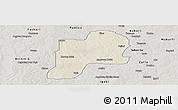 Shaded Relief Panoramic Map of Giwa, semi-desaturated