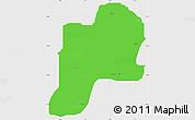Political Simple Map of Giwa, single color outside