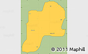 Savanna Style Simple Map of Giwa, cropped outside