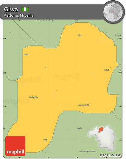Savanna Style Simple Map of Giwa