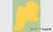 Savanna Style Simple Map of Giwa, single color outside