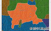 Political Map of Igabi, darken
