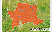 Political Map of Igabi, satellite outside