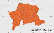 Political Map of Igabi, single color outside