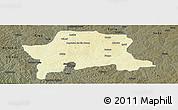 Physical Panoramic Map of Igabi, darken