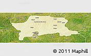 Physical Panoramic Map of Igabi, satellite outside