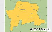 Savanna Style Simple Map of Igabi, cropped outside