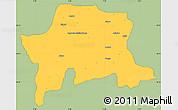 Savanna Style Simple Map of Igabi, single color outside