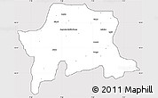 Silver Style Simple Map of Igabi, cropped outside