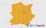 Political Map of Kachia, cropped outside
