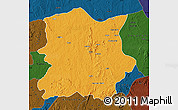 Political Map of Kachia, darken