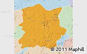 Political Map of Kachia, lighten