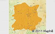 Political Map of Kachia, physical outside