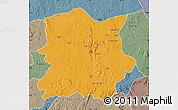 Political Map of Kachia, semi-desaturated