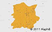Political Map of Kachia, single color outside