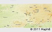 Physical Panoramic Map of Kachia