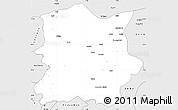 Silver Style Simple Map of Kachia