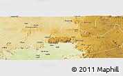 Physical Panoramic Map of Kaura