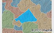 Political Map of Makarfi, semi-desaturated