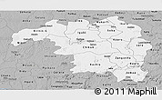 Gray Panoramic Map of Kaduna