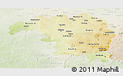 Physical Panoramic Map of Kaduna, lighten