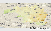 Physical Panoramic Map of Kaduna, shaded relief outside