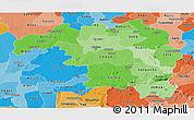 Political Shades Panoramic Map of Kaduna