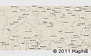 Shaded Relief Panoramic Map of Kaduna