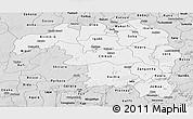 Silver Style Panoramic Map of Kaduna