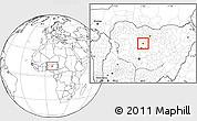 Blank Location Map of Sabon-Ga