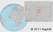 Gray Location Map of Sabon-Ga