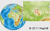 Physical Location Map of Sabon-Ga