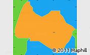 Political Simple Map of Sabon-Ga