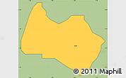 Savanna Style Simple Map of Sabon-Ga, cropped outside