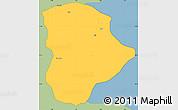 Savanna Style Simple Map of Soba, single color outside