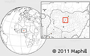 Blank Location Map of Zaria