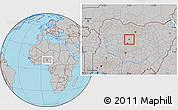 Gray Location Map of Zaria