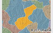 Political Map of Karaye, semi-desaturated