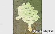 Physical Map of Kano, darken