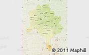 Physical Map of Kano, lighten