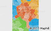 Political Shades Map of Kano