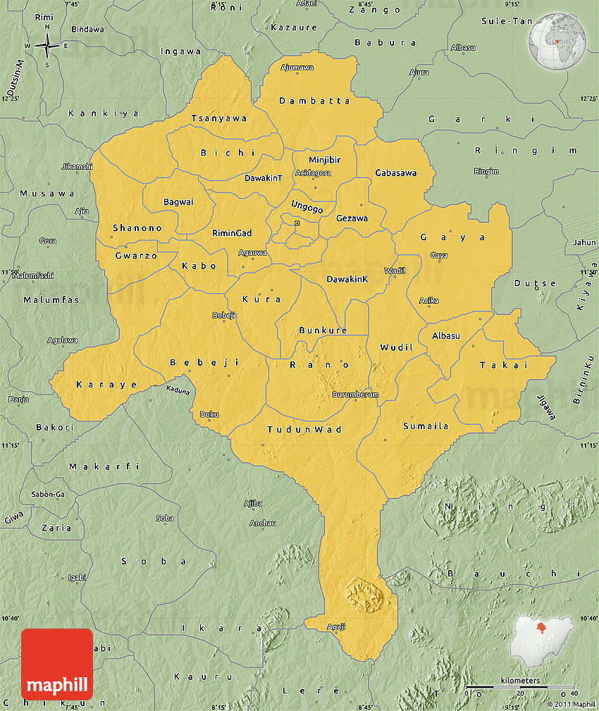 Savanna Style Map of Kano